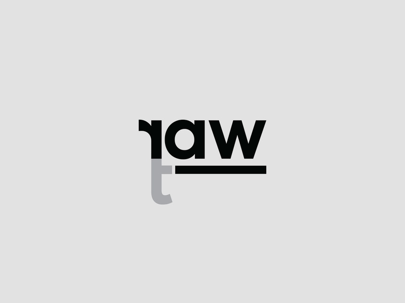 Raw Art Logo word art wordmark typography logo