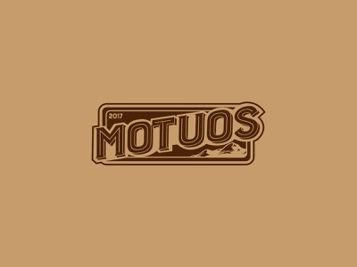 Motuos Industria — Logo Sign sign typography branding brand identity design apparel logo