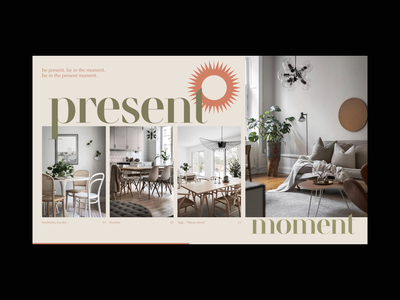 Present Moment web web design ui ui design