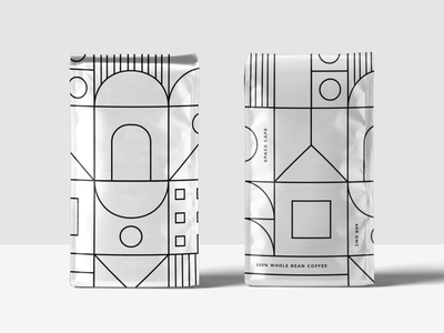 Space Cafe space cafe coffee illustration minimal packaging branding design