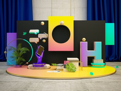 H A N N O V E R illustration c4d debut cinema4d artdigital design graphics digitalart colors artdirection