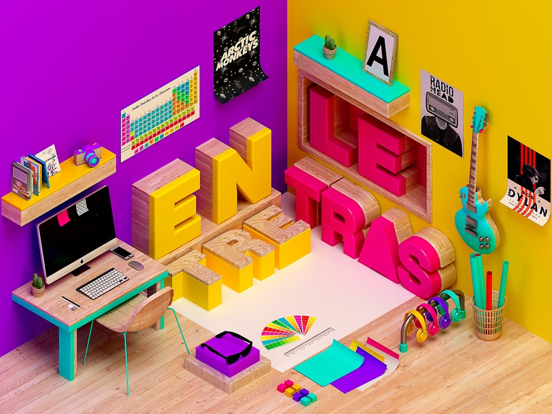 N O R M A c4d cinema4d colors artdigital design 3d graphics digitalart debut artdirection
