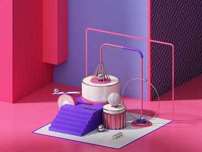 R A N D OM photoshop cinema4d artdigital design 3d graphics digitalart colors artdirection debut