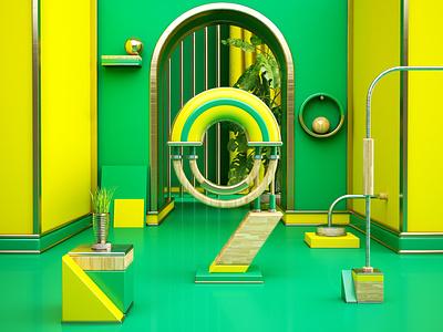 T R O P I C A L cinema4d c4d artdigital design 3d graphics digitalart colors artdirection debut
