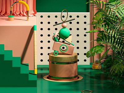 B A L A N C E dribble c4d animation photoshop logo cgi motion cinema4d 3d artdigital graphics digitalart colors artdirection debut