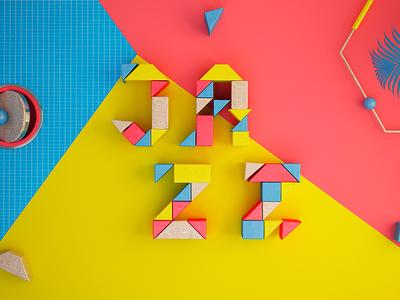 J A Z Z animation motion colors artdirection design graphics digitalart artdigital 3d debut