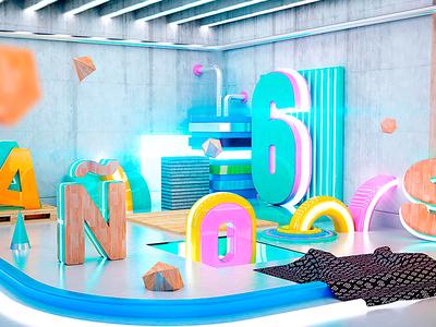Spectrum photoshop cinema4d motion colors artdirection design graphics digitalart dribble 3d debut