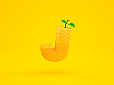 Orange type typography photoshop cinema4d motion colors artdirection design graphics digitalart 3d debut