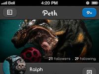 Peth profile mockup screen