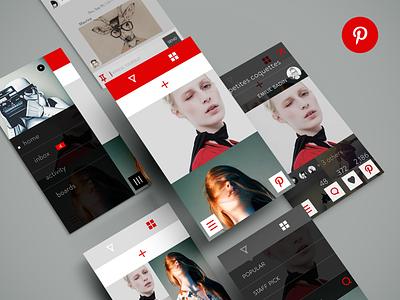 Pinterest Redesign pinterest redesign concept app ios ios7 photo minimalist messaging flow ui ux