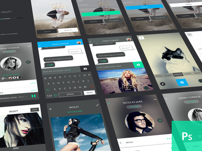 Gravity UI - Free Download free freebies psd perspective mockups mock gui ui kit emilie badin ios8 ios keyboard