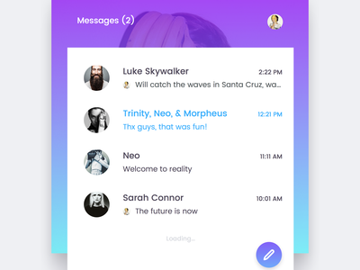 Messenger   Freebie android ios web app inbox chat messenger vector sketch freebie free