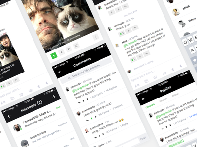 Imgur | Chat & Comments (WIP) wip flow ux ui mobile ios app redesign messaging comments chat imgur