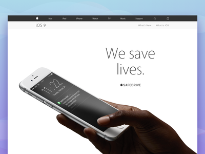  SafeDrive | Concept dndwd driver web website ios iphone call chat maps car safedrive apple