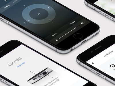Neeo | The Thinking Remote perspective app ux ui onboarding sono control ios device hardware remote neeo