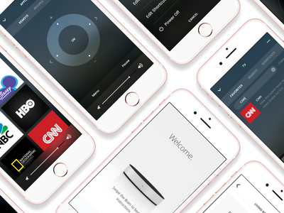 Neeo | The Thinking Remote neeo remote hardware device ios control sono onboarding ui ux app perspective