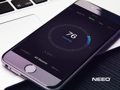 Meet Neeo | Thinking Remote perspective app ux ui nest control ios badin kuznetsov gleb remote neeo