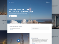 SpaceX | Redesign + Freebie