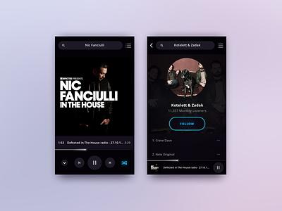 Music Player | FREEBIE audio gleb mobile ios app ui player music sketch free freebie rebound