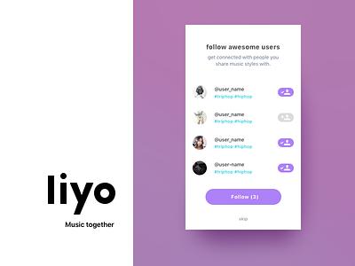 Liyo 2 | Trailer ui ux on boarding social project redesign ios app dre music liyo.io liyo