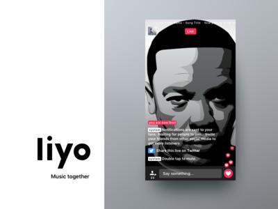 Liyo 2   Trailer ui ux on boarding social live redesign ios app dre music liyo.io liyo