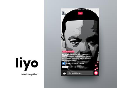 Liyo 2 | Trailer ui ux on boarding social live redesign ios app dre music liyo.io liyo