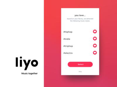 Liyo 2   Trailer ui ux on boarding social live redesign ios app chat music liyo.io liyo