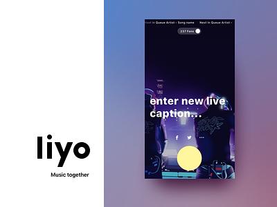 Liyo 2 | Trailer - Live stream music ui ux on boarding social live redesign ios app chat music liyo.io liyo