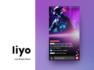 Liyo 2 | Trailer - Live stream music ui ux stream social live redesign ios app chat music liyo.io liyo