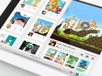 Kindergram iPad app - gameplay video UI