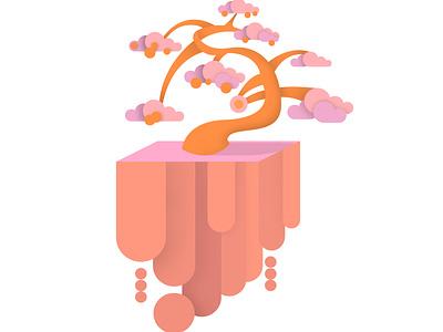 Sky tree logo design