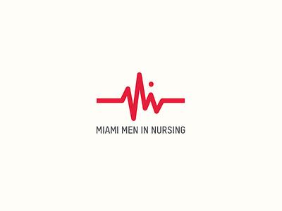 Miami Men In Nursing corporate identity min red club miami pulse nursing branding logo