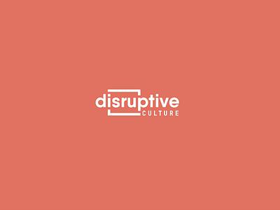 Disruptive Culrure corporate identity cool new illustration typography vector branding design logo creative