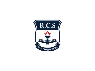 ROYAL CANADIAN SCHOOL rcs branding logo royal canadian school