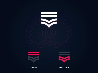 Personal Identity T+M design cool creative monogram brand identity branding logo