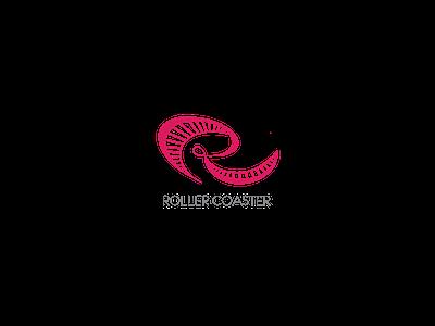 ROLLER COASTER r cool creative red roller coaster logo