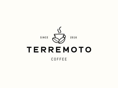 Terremoto Coffee coffee shop creative branding logo coffee coffee logo