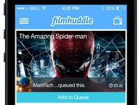 Filmhuddle iOS 7 Redesign