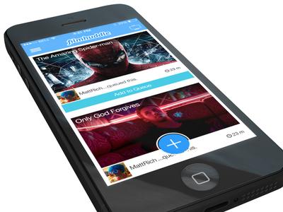 Filmhuddle iOS7 - Movie feed