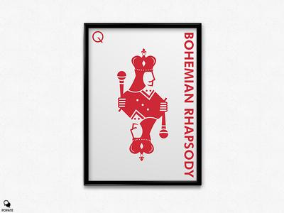 Bohemian Rhapsody Minimalist Poster - Queen by Popate