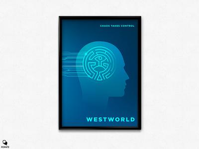 Westworld Alternative Poster - Chaos Takes Control