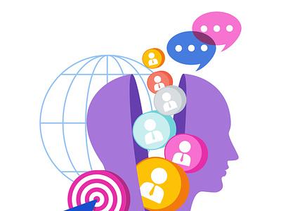 7PS Marketing Mix element People business people icons presentation advertising design marketing illustration vector flat