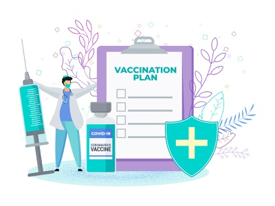 DR vaccination plan doctor icon medical vaccination vaccine covid19 people character illustration vector flat