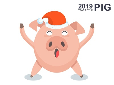 Christmas Pig Character Set