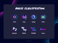 Exercises 008 / 100 Music Label icons