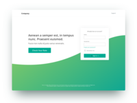 Simplified Landing Page Concept