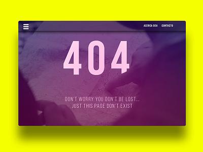 404 page #008 #dailyUI minimal web 404