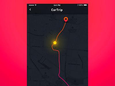 Tracker location#020 #DailyUI app pin track map ui location