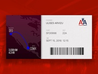 #DailyUI #024 - Boarding Pass