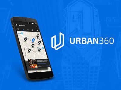Urban 360 (re-design) app logo news traffic app